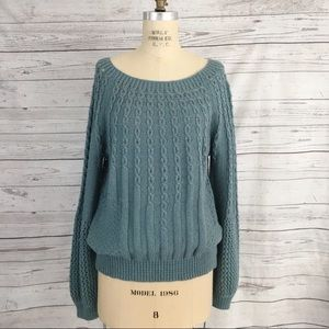 Anthropologie | Guinevere cable knit sweater